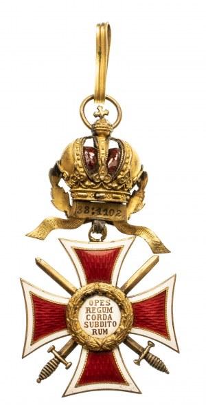 Austria, Austriacko-Cesarski Order Leopolda - Krzyż Rycerski z Odznaką Wojenną, ze złotymi mieczami, 1916-1918