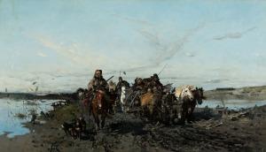 Józef Brandt, TABOR MYŚLIWSKI WPODRÓŻY, 1871
