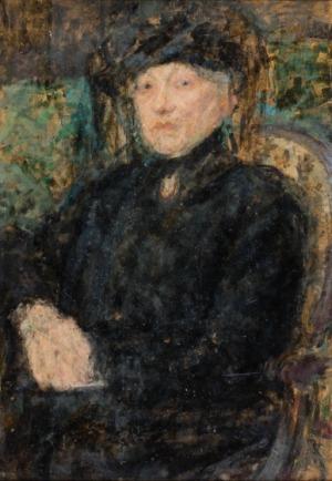 Olga Boznańska, DAMA W CZERNI, 1923