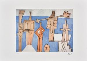 Pablo Picasso (1881-1973), Personnages cubistes, 1986