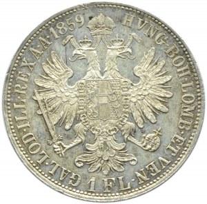 Austro-Węgry, Franciszek Józef I, 1 floren 1859 B, Kremnica