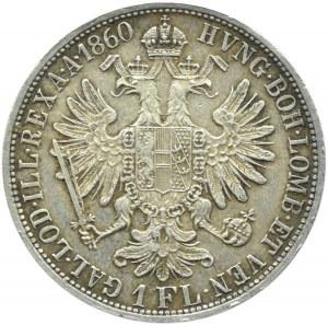 Austro-Węgry, Franciszek Józef I, 1 floren 1860 A, Wiedeń