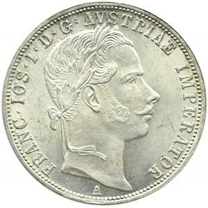 Austro-Węgry, Franciszek Józef I, 1 floren 1861 A, Wiedeń, UNC