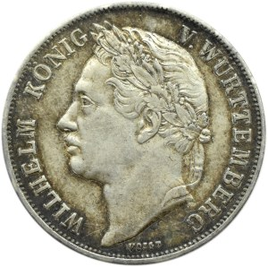 Niemcy, Wirtembergia, Wilhelm, gulden 1841, 25 lat panowania, Stuttgart