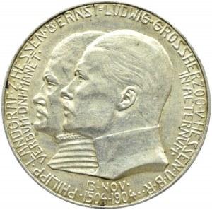 Niemcy, Hesja, 5 marek 1904, 400-lecie urodziny ks. Filipa
