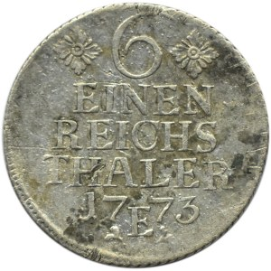Niemcy, Prusy, Fryderyk, 1/6 talara 1773 E, Królewiec