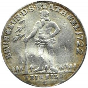 Niemcy, Braunschweig, 1/6 talara 1722, Brunszwik