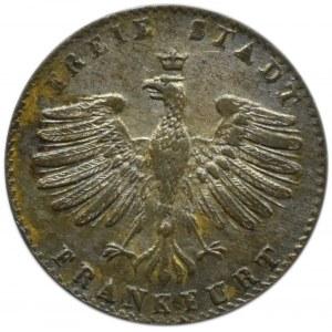 Niemcy, Wolne Miasto Frankfurt, 1 kreuzer 1857, Frankfurt, piękny
