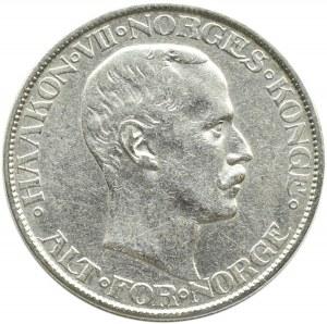 Norwegia, Haakon VII, 2 korony 1908, rzadkie