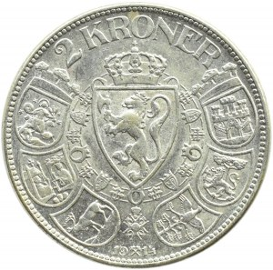 Norwegia, Haakon VII, 2 korony 1914, rzadkie