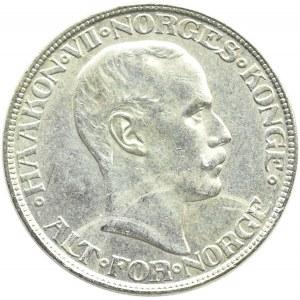 Norwegia, Haakon VII, 2 korony 1917, ostatni rocznik
