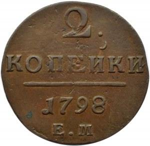 Rosja, Paweł I, 2 kopiejki 1798 E.M, Jekaterinburg