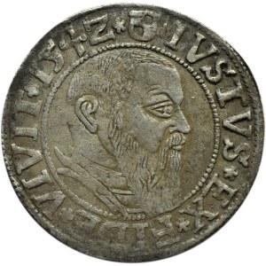 Prusy Książęce, Albrecht, grosz pruski 1542, patyna, Królewiec