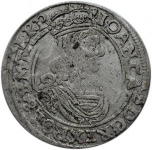 Jan II Kazimierz, szóstak 1662 AT, Bydgoszcz, z obwódkami, podwójnie uderzony