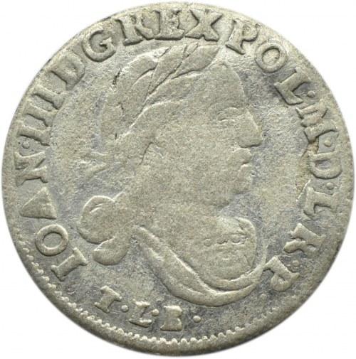 Jan III Sobieski, szóstak 1683 TLB, Bydgoszcz, herb Leliwa, 12 klejnotów w koronie