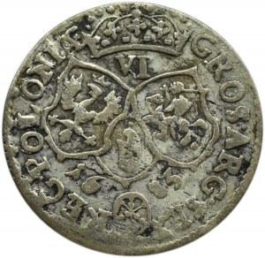 Jan III Sobieski, szóstak 1683 TLB, Bydgoszcz, herb Jelita, 10 klejnotów w koronie