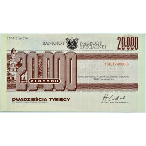 Polska, Readest Digest, Banknot Nagrody Konkursowej, 20000 złotych