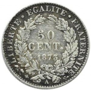 Francja, Republika, 50 centimes 1873 A, Paryż