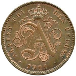 Belgia, Albert I (1910-1934), 2 centimes 1914, Bruksela