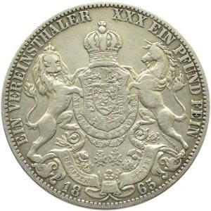 Niemcy, Hannover, Georg V, talar 1865 B, Hannover