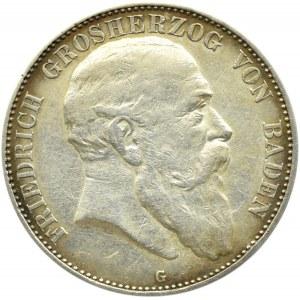 Niemcy, Badenia, Fryderyk, 5 marek 1903, Karlsruhe