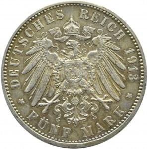 Niemcy, Hamburg, 5 marek 1913 J, Hamburg
