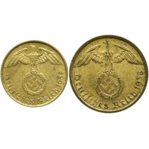 Niemcy, III Rzesza, lot 5 i 10 pfennig 1938 A, Berlin