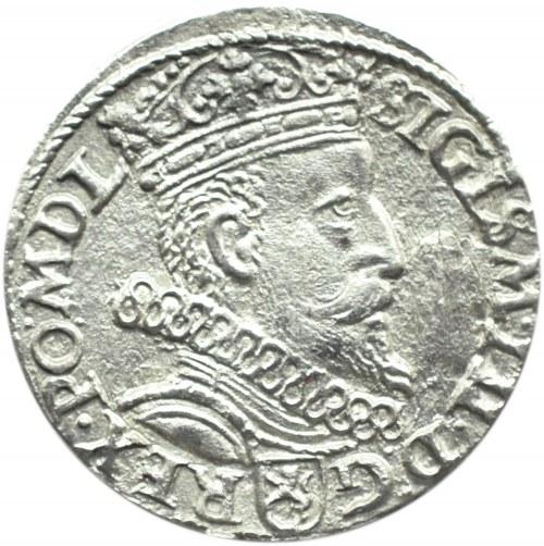 Zygmunt III Waza, trojak 1602 - obrócona 2, Kraków