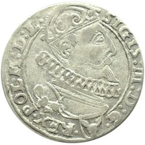Zygmunt III Waza, szóstak 1625 herb półkozic, Kraków, (R2!)