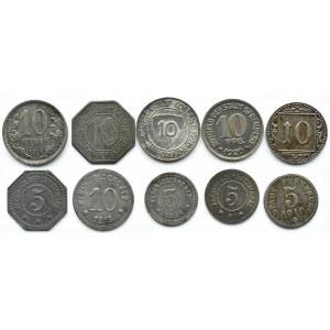 Niemcy, XX wiek, lot notgeldów 10 sztuk