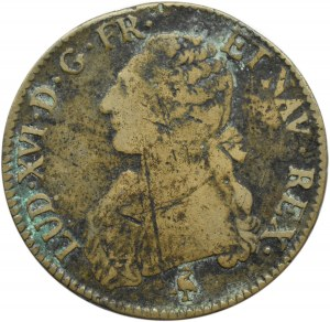Francja, Ludwik XVI, ecu 1788 A - falsyfikat z epoki