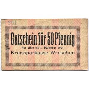 Wreschen, Września, 50 pfennig 1914, rzadki