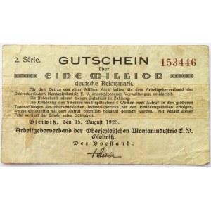 Gliwitz, Gliwice, milion marek 1923, 2 seria