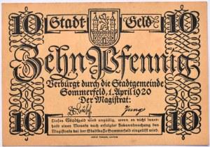 Sommerfeld, Lubsko, 10 pfennig 1920, UNC