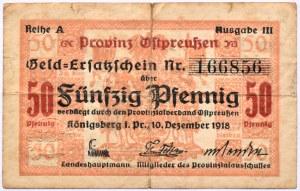 Konigsberg, Królewiec, 50 pfennig 1918, seria A