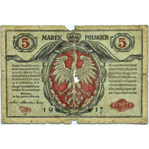 Polska, II RP, 50 marek 1916 jenerał, seria A