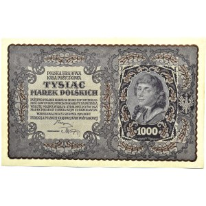 Polska, II RP, 1000 marek 1919, I serja CK - typ 7, UNC