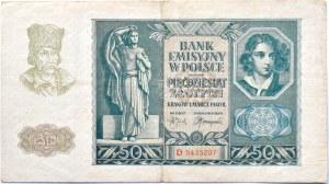 Polska, Generalna Gubernia, 50 złotych 1940, seria D