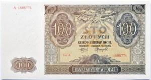 Polska, Generalna Gubernia, 100 złotych 1941, Kraków, seria A, UNC