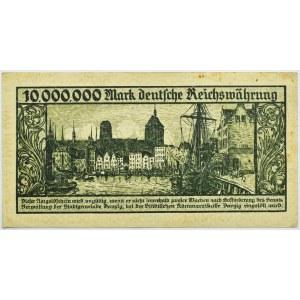 Wolne Miasto Gdańsk, 10 milionów marek 1923, odmiana bez oznaczenia serii