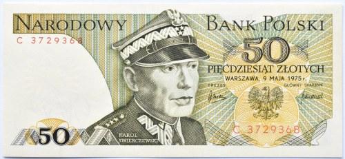 Polska, PRL, 50 złotych 1975, seria C, Warszawa