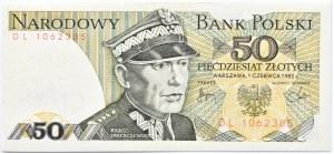 Polska, PRL, 50 złotych 1982, seria DL, Warszawa
