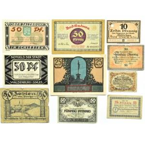 Śląsk, XX wiek, lot 10 notgeldów