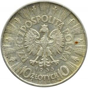 Polska, II RP, Józef Piłsudski 10 złotych 1935, Warszawa