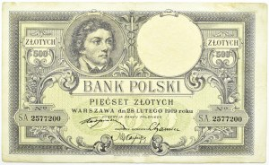 Polska, II RP, T. Kościuszko 500 złotych 1919, Londyn
