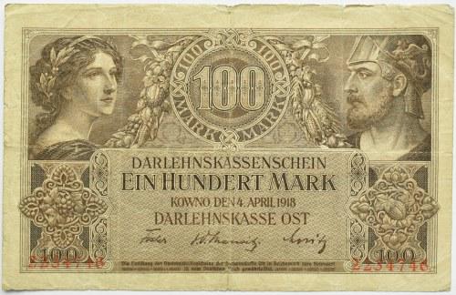 Polska/Niemcy, Kowno 100 marek 1918 OST, bez oznaczonej serii
