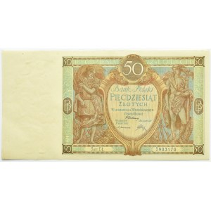 Polska, II RP, 50 złotych 1929, seria EŁ, Warszawa, UNC/UNC-