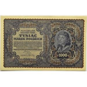 Polska, II RP, 1000 marek 1919, III serja B - typ 8, piękne