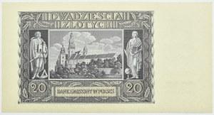 Polska, Generalna Gubernia, 20 złotych 1940, Kraków, seria G, UNC