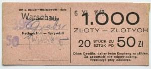 Polska, Generalna Gubernia, banderolka od paczki bankowej